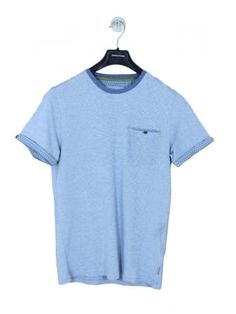 83ac1b03c Ted Baker Tempoe RollBack Stripe T.Shirt in Blue Light - Northern Threads
