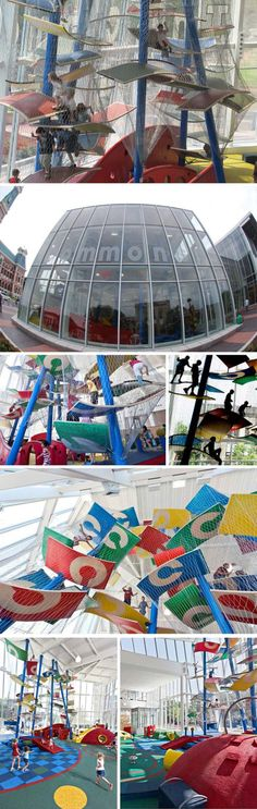 Climbing structure, Indoor Children's Playground, Columbus, Ohio, Tom Luckey, Luckey Climber, Fun Playground Design