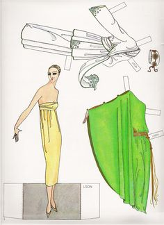 Erté Fashion Paper Dolls of the Twenties 1/16 (1978) by Susan Johnston, Dover Publications Inc.