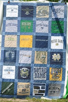 Patchwork Playground: T-Shirt Quilt Denim Quilt