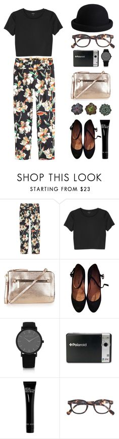 """guaranteed, I can blow your mind"" by florenciafashionstreethunter ❤ liked on Polyvore featuring J.Crew, Monki, Topshop, Repetto, Larsson & Jennings, Polaroid, Bobbi Brown Cosmetics, Pieces and topset"