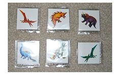 Lot of 12 Dinosaur temporary childrens tattoos birthday party favor goody bags  Top Selling ** Want additional info? Click on the image.