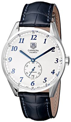 Tag Heuer Men's WAS2111.FC6293 Carrera White Dial Dress Watch * Click image to review more details.