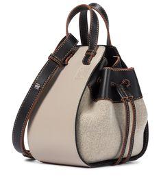 Calf Leather, Leather Shoulder Bag, Shoulder Strap, Black Leather, Loewe Hammock Bag, Loewe Bag, Beige, Color Negra, Mini Bag