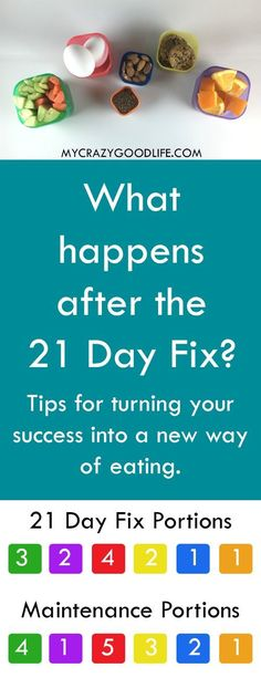 """What happens after the 21 Day Fix? It's no secret that I loved the 21 Day Fix as a sort of """"reset"""" for the way I ate... but what happens after the 21 Day Fix is over? Do you go back to your old ways, commit to another round, or try to maintain a new way o"""