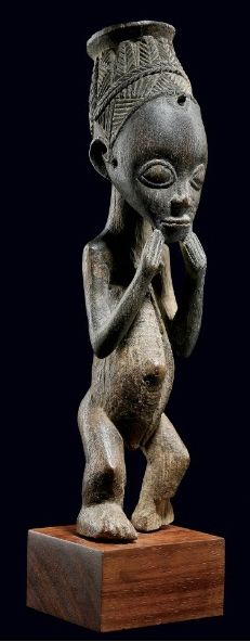 Africa | Figure from the Luba people of the DR Congo | Early 20th century | Likely to have had a religious or ceremonial purpose.