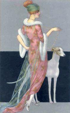 ArtbyJean - Vintage Clip Art: Vintage Ladies - Clip art for your cards, paper crafts, scrapbooks, decoupage