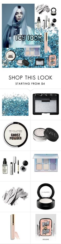 """icy"" by roseuniquestyle ❤ liked on Polyvore featuring NARS Cosmetics, Bobbi Brown Cosmetics, Anastasia Beverly Hills, MAC Cosmetics, Beautycounter and Benefit"