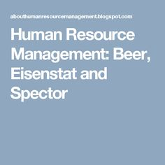Human Resource Management Characteristics Of The Traditional