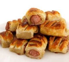 British Sausage Rolls Meaty sausages wrapped in pastry – sausage rolls – are a perfect food whether for a picnic, buffet, party, lunch box or simply a snack. Saus… Read Recipe by Bbc Good Food Recipes, Spicy Recipes, Yummy Food, Free Recipes, Lamb Recipes, Savoury Recipes, Meal Recipes, Yummy Recipes, Empanadas