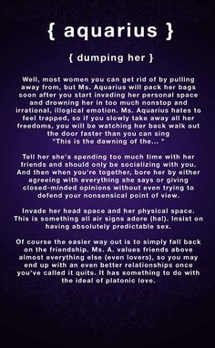 Zodiac Signs Meanings  aquarius | dumping aquarius woman