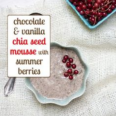 homemade chia seed mousse - yummy and healthy!