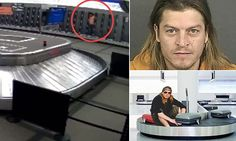 Puddle of Mudd singer seen on video riding airport carousel ; )