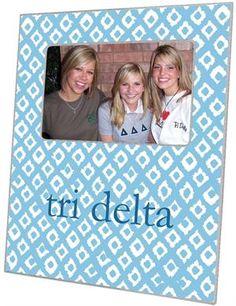 F2335 - Tri Delta Picture Frame Ikat $46.00 #TriDelta #DeltaDeltaDelta