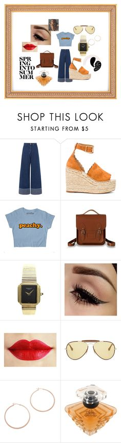 """Estilo Retro Vintage"" by m-arecha on Polyvore featuring moda, Sea, New York, Chloé, The Cambridge Satchel Company, Patek Philippe, Ray-Ban, Jennifer Zeuner, Lancôme y vintage"