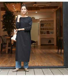 17 Ideas Womens Fashion For Summer Casual Curvy Women Fashion, Modest Fashion, Love Fashion, Trendy Fashion, Womens Fashion, Dress Over Pants, Japan Fashion, Summer Dresses For Women, Color Negra