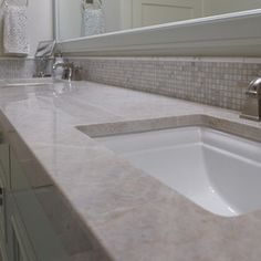Quartzite bathroom countertop