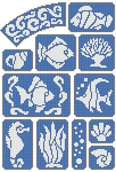 Marine world, fishs http://free-cross-stitch.rucniprace.cz/marine-world-cross-stitch.php