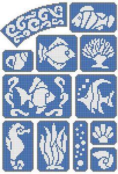 Marine world, fishs http://free-cross-stitch.rucniprace.cz/marine-world-cross-stitch.php