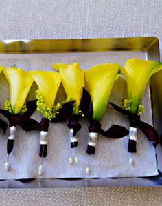 WeddingChannel Galleries: Yellow Boutonniere