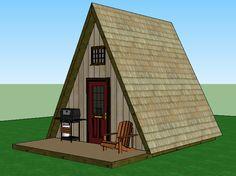 A Frame Cabin - Simple Solar Homesteading 14x14 with loft