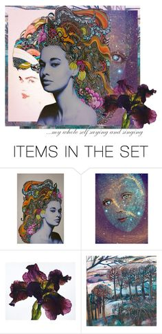 """""""I can."""" by artsdesireable ❤ liked on Polyvore featuring art and Color"""