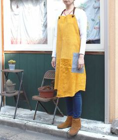 [ Leather work apron ( men and women for adults combined ) ] This is the apron with the pigskin . It is wearing comfortable and fits in very light body . Shoulder straps , waist cord can wear anyone because it is adjustable Itadakema ...   handmade , homemade , Creema if mail order , sale and purchase of handicrafts products.
