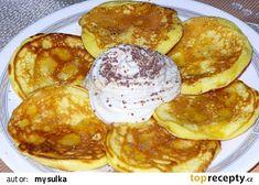 Rychlé jogurtové lívanečky recept - TopRecepty.cz Griddle Cakes, Czech Recipes, Cooking Recipes, Healthy Recipes, Muesli, Nutella, Cooker, Pancakes, Food And Drink