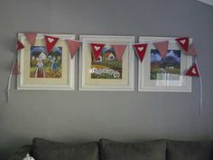Hearts Bunting, Hearts, Frame, Home Decor, Picture Frame, Garlands, Decoration Home, Room Decor, Buntings