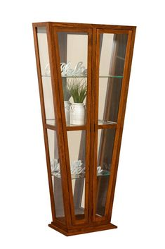 Melody Amish Contemporary Curio Cabinet Display collectibles in style with this contemporary curio.