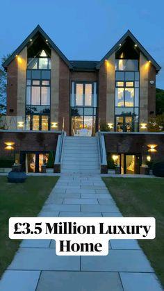 Best Modern House Design, Modern Exterior House Designs, Design Exterior, Dream House Exterior, Dream Home Design, Appartement Design, Mansion Interior, Modern Mansion, Luxury Homes Dream Houses