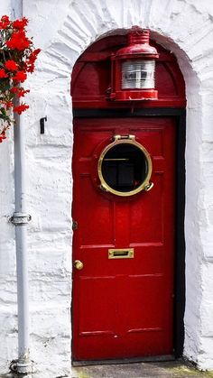 Red Door in Ambleside, Cumbria, England
