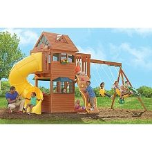 Frontenac Wooden Playset is currently not available on Lasoo Backyard Swing Sets, Backyard Toys, Backyard Playhouse, Build A Playhouse, Big Backyard, Backyard Landscaping, Big Architects, Wooden Playset, Toys R Us Canada