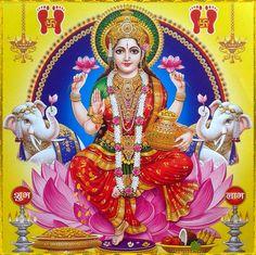 "☀ SHRI LAKSHMI DEVI ॐ ☀ ""I offer my obeisances unto the lotus-born mother of all beings, unto Sri the Goddess of fortune, having full-blown lotus-like eyes, and reposing in the bosom of. Durga Images, Lakshmi Images, Lakshmi Photos, Diwali Pooja, Ganesh Photo, Saraswati Goddess, Divine Goddess, Lord Krishna Wallpapers, Shiva Art"