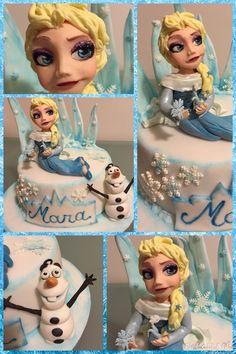 Torta Elsa e Olaf di Frozen