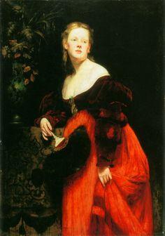 Opernsängerin Karoline Gompertz (1845-1925), geb. Bettelheim, Bildnis.