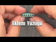 YouTube Bead Jewellery, Beaded Jewelry, Handmade Jewelry, Beaded Bracelets, Diy Beaded Rings, Diy Rings, Ring Tutorial, Bracelets, Loom Bracelets