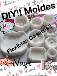 diy moulds with cold porcelain? Polymer Clay Crafts, Diy Clay, Resin Crafts, Polymer Clay Jewelry, Diy Crafts, Crea Fimo, Diy Silicone Molds, Paperclay, Diy Molding
