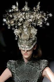 Phillip Treacy headpiece for McQueen.