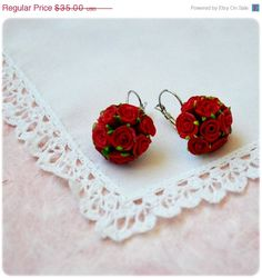 ON SALE christmasinjuly Earrings with Wonderful Tiny by IrenkaR, $31.15