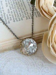 dainty chain, pretty stone by eileen