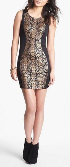 Love it! Metallic Body-Con Dress