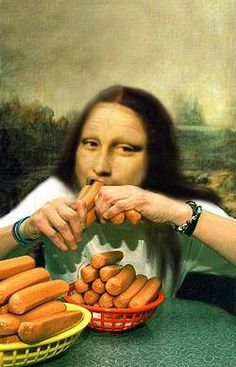 mona lisa after long hours posing-- Mona Lisa Parodies #Joconde