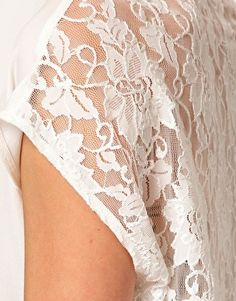 Just Female | Just Female Lace Back Hi-Lo Blouse at ASOS
