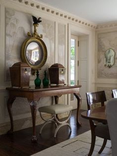 Dining room with painted ceiling by Phoebe Howard -- heirloom philosophy: The Fifth Wall Haus Am See, Dining Room Design, Beautiful Interiors, Interiores Design, Room Interior, Decoration, Interior Decorating, Decorating Ideas, Sweet Home