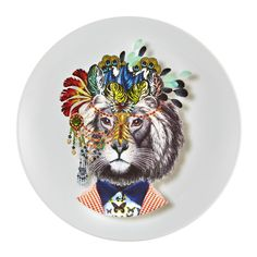 Discover the Christian Lacroix Love Who You Want - 'IndiLion' Dessert Plate at Amara