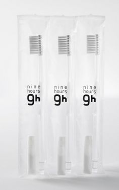 clean toothbrush package. Transparency.