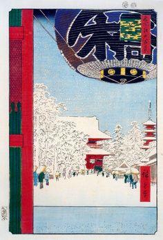 Hiroshige - Kinryuzan Temple at Asakusa