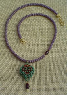 Violets are Blue Necklace by gwensofferjewelry on Etsy, $65.00