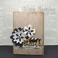 Gothdove Designs - Alison Barclay - Stampin' Up! Australia - Stampin' Up! Typeset Specialty Designer Series Paper